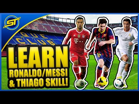 Ronaldo/Messi/Alcantara Football Skills Tutorial ★ (Topps #1)