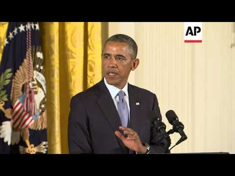 President Barack Obama held a signing ceremony for an executive order that will prohibit employment