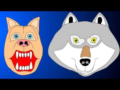 Dog And Wolf Singing Duet Animated Wild Pets Lip Sync Original Music Tune Song Full Lyrics Subtitles video