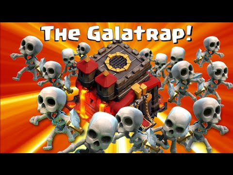 Clash of Clans Best Defense for Town Halls 8. 9. 10 - The GALATRAP!