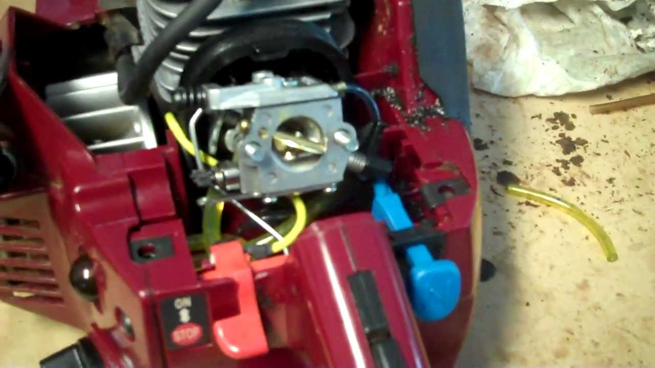 Chainsaw Fuel Line Replacement  YouTube