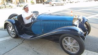 1932 Bugatti Type 55 Super Sport (startup, short drive)