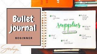 SỔ TAY + BÚT RẺ VÀ TỐT CHO NGƯỜI MỚI BẮT ĐẦU ♡ Bullet journal beginner ♡ Sunhuyn