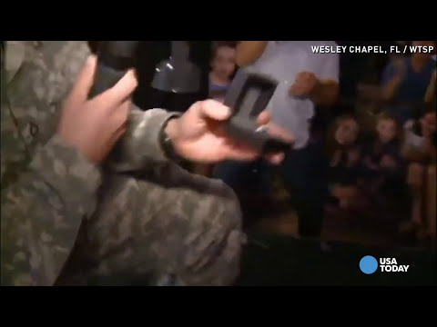 Soldier's secret homecoming wasn't his only surprise
