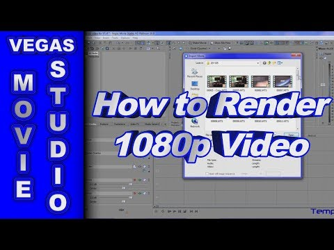 How To Render 1080p Hd Video .mp4 For Youtube Using Sony Vegas Movie Studio Hd Platinum 10 video