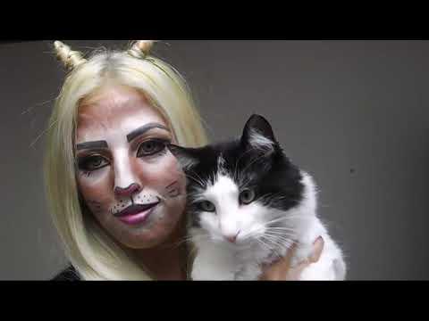 Maquillaje gatita para HALLOWEEN