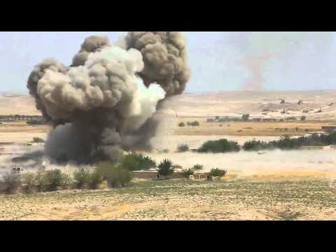 military blows up IED in afganastan