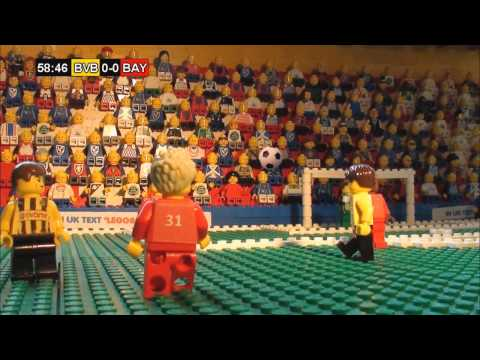 Champions League Final 2013  in LEGO (Borussia Dortmund v Bayern M ünchen)