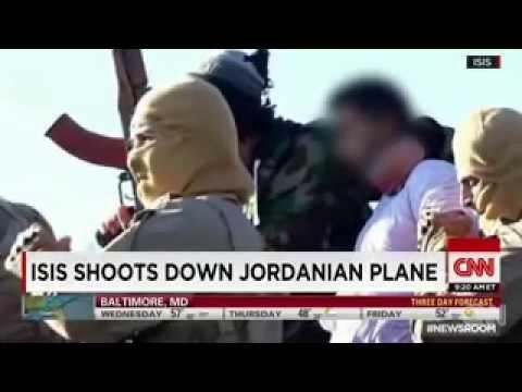 Breaking News December 2014 DAESH ISIL ISIS shoot down Jordon warplane captures pilot