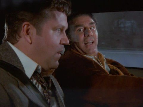 Kramer test drives car on Seinfeld