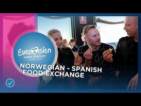 Miki ???????? & KEiiNO ???????? try Spanish and Norwegian food! - Eurovision 2019