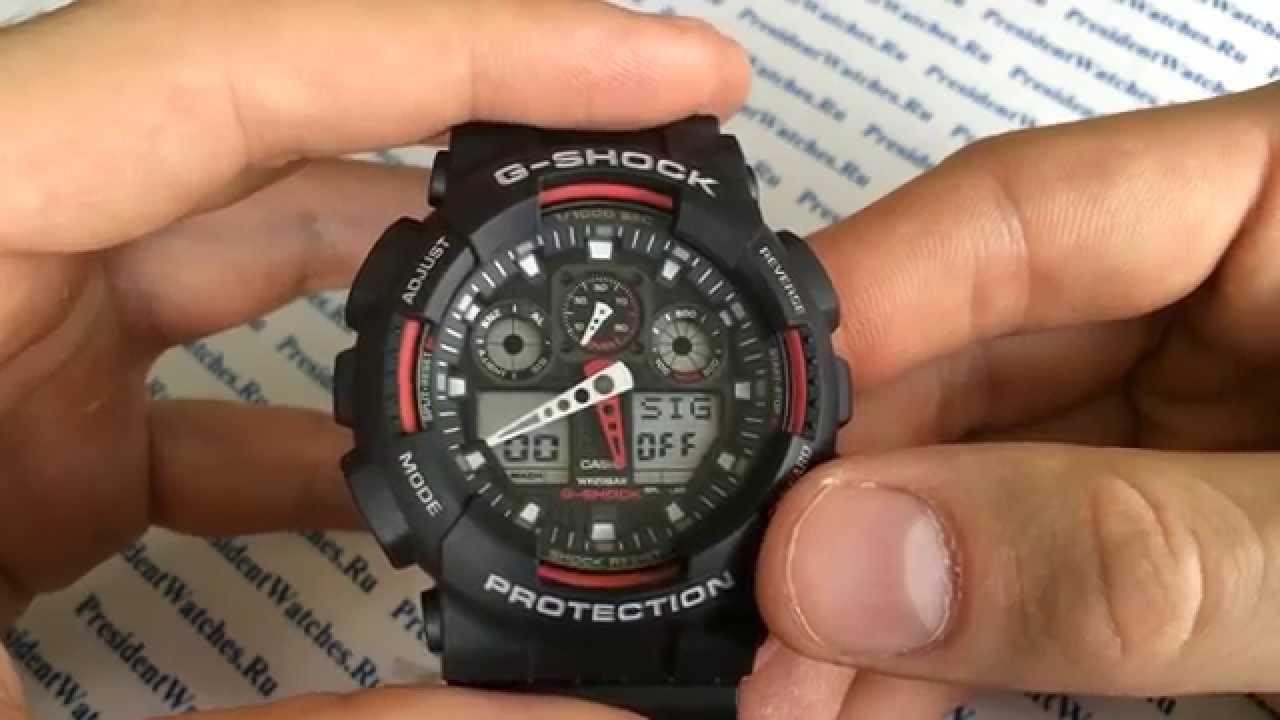 Настроить часы casio g shock ga 100