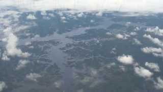 Vista aérea,  floresta amazônica, planeta água, represa hidrelétrica balbina, Manaus,
