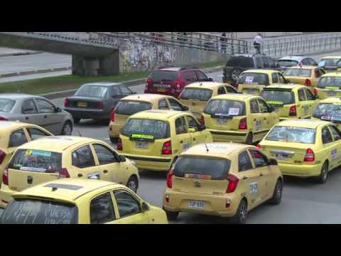 Transamérica News - Taxistas protestam contra Uber em Bogotá
