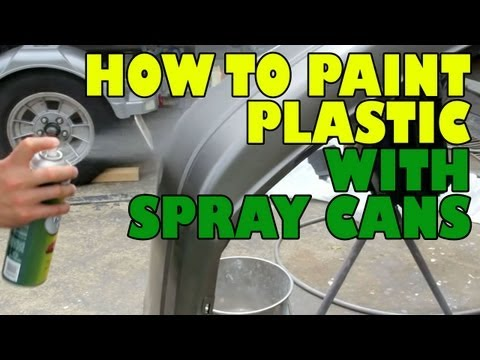 How to paint plastic with spray cans.