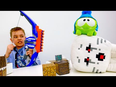 Ам Ням: видео с игрушками Майнкрафт! Игробой Глеб и Стив