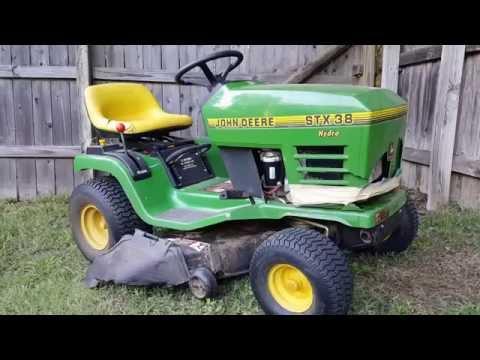 John deere stx38 riding mower starter replacement.