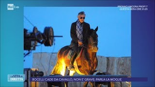 Andrea Bocelli Cade Da Cavallo Parla La Moglie La Vita In Diretta 14 09 2017