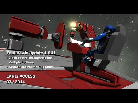 Space Engineers - Block control through Toolbar, Weapons control through Rotors