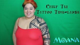 Chief Tui (Moana) Tattoo Time-lapse