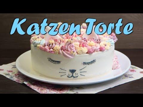 KATZEN TORTE BACKEN   Geburtstagstorte selber machen [ohne Fondant] Buttercremetorte Rezept