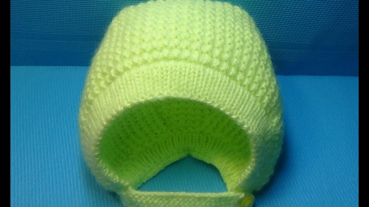 Вязание детской шапочки-чепчика спицами 43