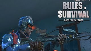 CAPTAIN AMERICA USING THE NEW CROSSBOW AND SKINS IN RULES OF SURVIVAL UPDATE!