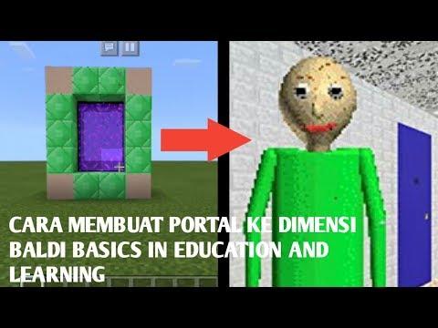 Cara Membuat Portal Ke Dimensi BALDI BASICS IN EDUCATION AND LEARNING Di Mcpe