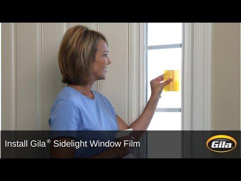 Install Gila® Sidelight Window Film