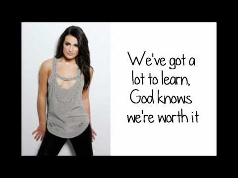 Glee - I Won't Give Up (lyrics) Hd video