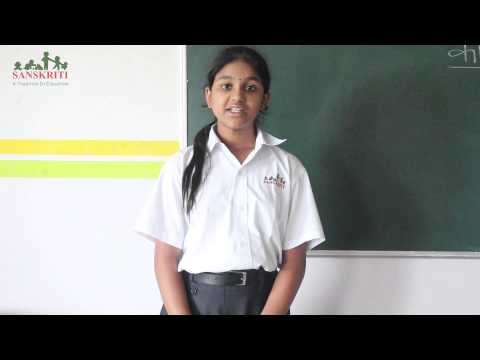 Hindi Poetry Recitation By Class Vii video