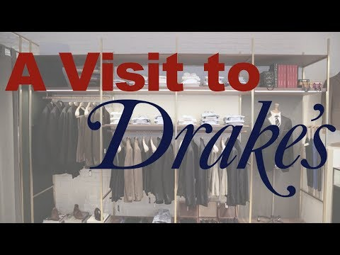 A Visit to Drake's New York City Store