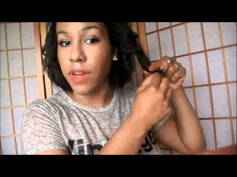 short relaxed hairstyle crimped bob  youtube