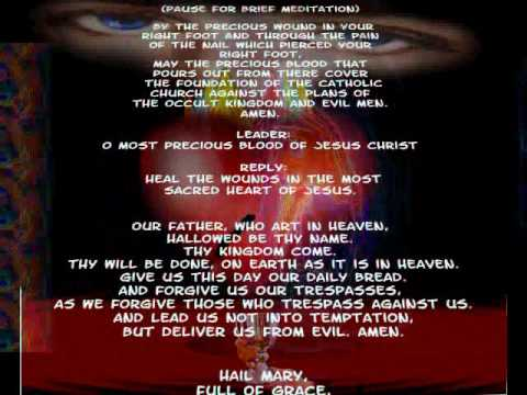 Chaplet Of The Precious Blood Of Jesus Christ1flv YouTube