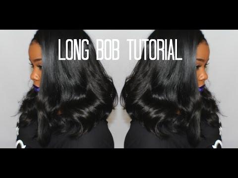 ♡ I cut it ! Long Bob Tutorial