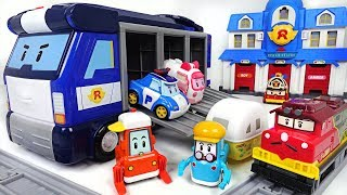 Robocar Poli new friends, Trino, Camp, Lifty are dangerous! Mobile Headquarter! Go! - DuDuPopTOY
