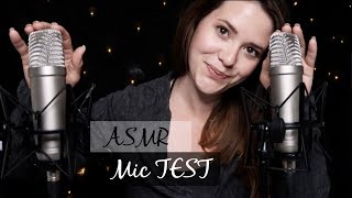 ASMR MIC TEST ⭐ sanftes Tapping - Whispering - Finger Fluttering [deutsch/german]