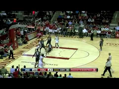 Pacers vs. Rockets (Luis Scola records 23 points and 11 rebounds)
