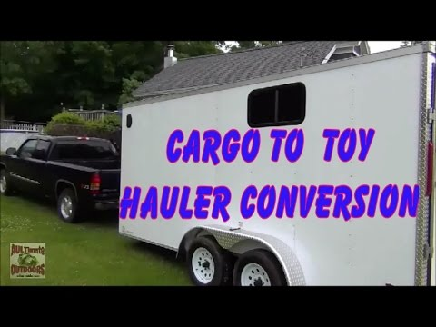 CARGO TO TOY HAULER/CAMPER CONVERSION PT 1