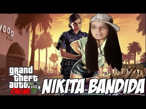 NIKITA BANDIDA ASSALTA E FOGE EM ALTA VELOCIDADE! - GTA 5 Online