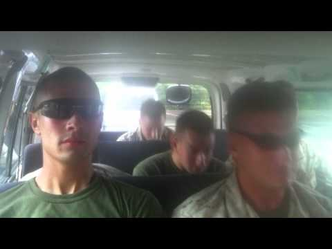 Marines dancing to