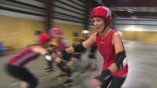 Brooke Baldwin laces up her skates for roller derby