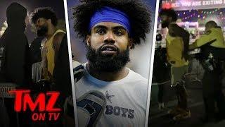 NFL Star Ezekiel Elliott Handcuffed at EDC Vegas After Altercation | TMZ TV