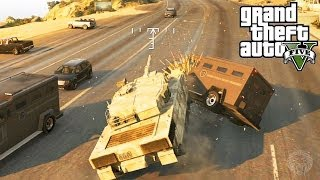 GTA 5: How To Escape The Police With A TANK! Get Away From A 5 Star Wanted Level Tutorial (GTA V)