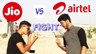 JIO vs AIRTEL | Funny Fighting JIO vs AIRTEL by Naved Solanki