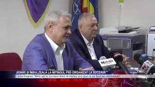 Jigniri și îmbulzeală la mitingul PSD organizat la Suceava