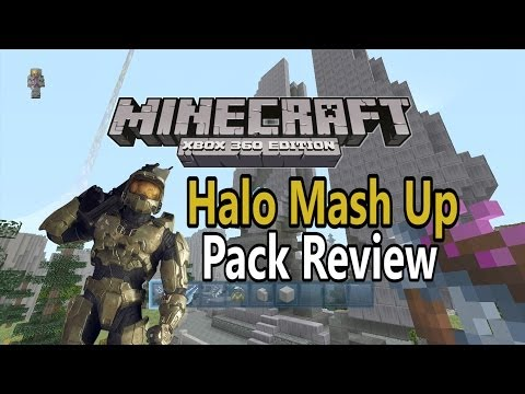 Minecraft Xbox 360 Halo Mash Up Pack Review!!