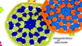 how to make a crochet granny  circle