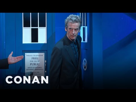 Peter Capaldi's Amazing TARDIS Entrance  - CONAN on TBS
