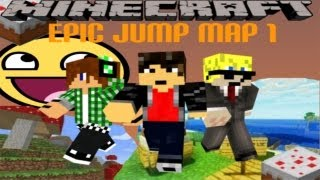 Minecraft Epic jump map 1 the final with teamchaoscast